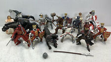 Papo Lot of 18 Knights and Horses Schleich Medieval Fantasy Wizard King figures