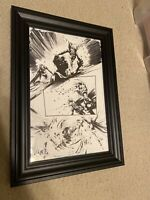 Jock Batman Who Laughs #5 Pg 9 Original Art Scott Snyder Writer Great Action