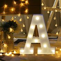 Alphabet Letter Lights LED Light Up White Plastic Letters Stand Remote control