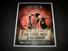 "Method Man & Redman - Live in Concert Vegas 2013 Matted Event Ad/Art 15""x12"" New"
