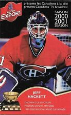 2000-01 NHL HOCKEY SCHEDULE - MONTREAL CANADIENS #3 JEFF HACKETT
