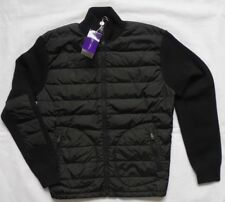 RALPH LAUREN Purple Label Quilted Shell and wool-blend Black Jacket T S