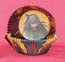 Pirates of the Caribbean Cupcake Papers,Wilton,Browns, Bake cups,Party