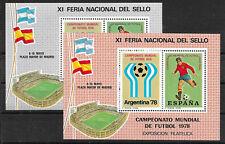 a481 SPANIEN-Argentinien/ Fußball-WM 1978 - 2 Vignettenblocks **