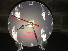 Repurposed Cd's and DVD's Clocks  Wall and Mantel - Beatles With Free Stand