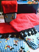 Mickey Mouse Towels Red Disney Themed Six Pieces Mainstays Home Decor Cotton New