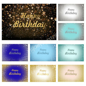 Happy Birthday Backgrounds Photography Cloth Screen Photo Props Backdrop Studio