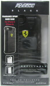 Ferrari Scuderia Ferrari Black Set IPHONE 6/6s Cellulare 2 x 25 ML EDT Spray