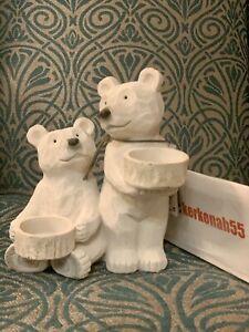 NEXT Polar Bear Friends Tealight Holders White Barnaby 🐻❄️ Tea Light Ornament