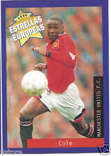 Rare '96 Panini England's EUROPEAN SUPER STAR Andy Cole with Manchester United