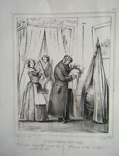 LITHOGRAPHIE DE  BOUCHOT 19ème CE QUE PARLER VEUT DIRE VOUS VOUS RESSEMBLEZ