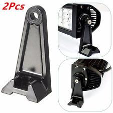 2Pcs LED Work Light Bar Side Mounting Bracket Heavy Duty Die-cast Aluminum Black