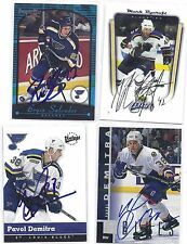 1997-98 UD Pavol Demitra St Louis Blues Signed / Autographed Card Deceased