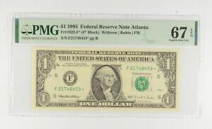 STAR NOTE - PMG Graded 67 EPQ $1 1995 FR1922-F* FRN - Error Replacement *559