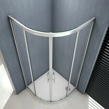 900x900mm New Shower Enclosure Walk In Quadrant Corner Glass Door Screen Cubicle