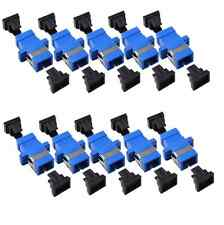 10Pcs Lot SC-SC/APC single mode Simplex Fiber Optic Adapter