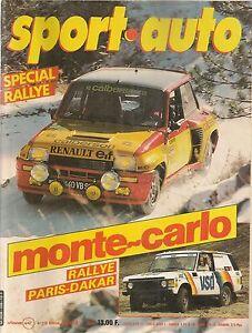 SPORT AUTO 228 1981 RAC RALLY ESSAI ALFA ROMEO ALFETTA GTV6 RALLYE COTE D'IVOIRE