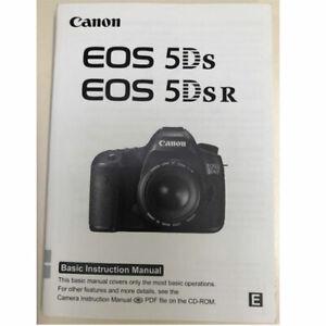 Canon EOS 5DS R 5DSR Instruction Propriétaires Manuel book Anglais 163 Pages