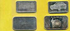 2 Silberbarren 1 Oz..,zus. 62,2g fein, Schmuckbarren: Mercedes 190 E u. Hochrad