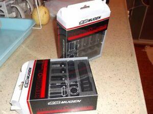Genuine Mugen Heptagon Nut Set 5H Black Integra JDM EK9 EP3 FN2 FD2 EG6 DC2 DC5