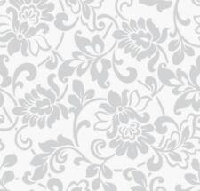 Klebefolie Möbelfolie Ornamente Silber Grau 90 cm x 200 cm Dekorfolie Barock