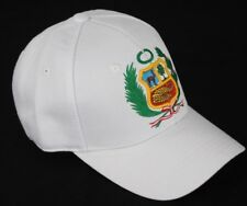 Peruvian hat cap with embroidered nice quality shield white size fits most
