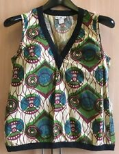 "Marni at H&M Sleeveless V Neck Cotton Blouse Top Tribal ""Capsule Collection"""