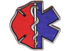 "(G17) FIREFIGHTER / EMT EMBLEMS 3"" x 3"" iron on patch (4914) EMT Medical"