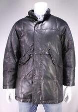 * GIORGIO ARMANI * Black South African Lamb Leather Puffer Jacket 40/Meidum