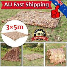 3 X 5m Camping Jungle Camouflage Woodlands Desert Camo Net Cover Blinds AU Ship