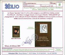 """Italia 1999 Tessera filatelica """"omaggio"""" MNH con certificato Cilio"""