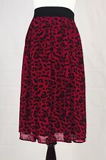 WHBM Burgundy Flowing Leopard Print Skirt; $88; NWT; Size 4; SOLD OUT