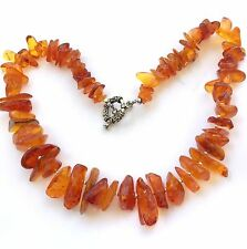 """Natural Honey Baltic Amber Beads Necklace 18 """" long"""