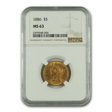 1886 $5 Liberty Gold Half Eagle MS-63 NGC