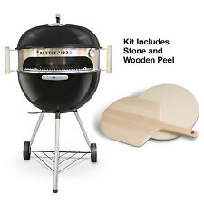 KettlePizza Deluxe Kit - Wood Fired Pizza Oven Kit for 18.5 & 22.5 Kettle Grills