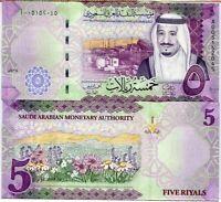 SAUDI ARABIA 5 RIYALS 2016 P 38 UNC