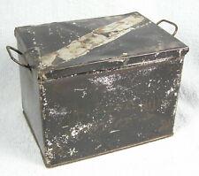 Vintage Child's Tin / Tole Ware Miniature Bread Box