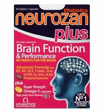 Vitabiotics Neurozan Plus Omega-3 Brain Performance Vitamins & Minerals 56 Tabs