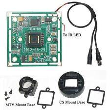 "Sunvision 420TVL 1/4"" Sharp CCTV Board Camera + CS & M12 Base Mounts (BP42)"