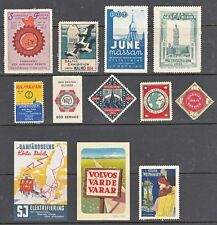SWEDEN, Europe, 1913-30s. Exhibition/Advetising Labels