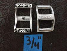 "Pr Jeremiah Watt  Conway Buckle 3/4"" Black Western Horse Bridle Tack Belt Biker"