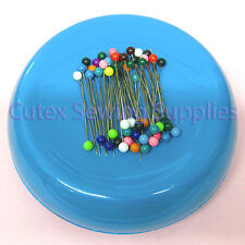 GRABBIT Magnetic Pincushion + 50 Pins / Sewing Pin Holder Cushion