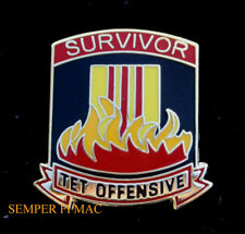 SURVIVOR TET OFFENSIVE HAT PIN VIETNAM VET NAM US ARMY MARINES NAVY AIR FORCE
