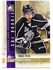 50ct Tomas Hyka 2011-12 ITG Heroes & Prospects Hockey Update Rookie RC Lot #243