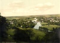 Goring and Streatley, Oxfordshire, 1890's, Vintage English Photography Poster