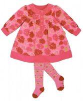 NWT LE TOP CORDUROY PINK DRESS + TIGHTS girls 2 pcs set size 2y 3y 4Y 5Y 1202542