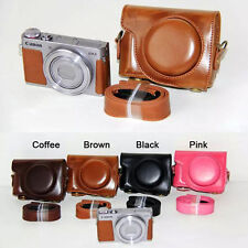 Leather Camera case bag Cover For Canon PowerShot G9X