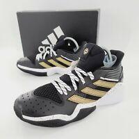 Adidas James Harden Stepback Basketball Shoes Black FX7655 Men's Size 10 NIB