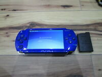 Sony PSP 1000 Console Metallic Blue w/battery Pack Japan o702