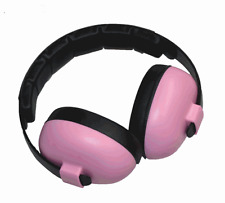 BABY PINK EAR MUFFS BABIES MONSTER TRUCKS SPEEDWAY DRAG RACES HEARING PROTECTION